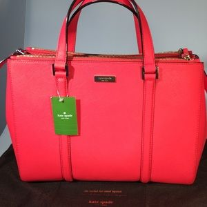 NWT Kate Spade Newbury Lane Loden Leather Satchel